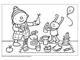 Uk En Puk Reuzen En Kabouters Kleurplaat Uk En Puk Picknick