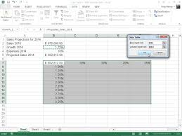 How To Create A Two Variable Data Table In Excel 2013 Dummies