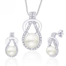 pearl pendant earrings set pxs47