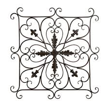 Square Metal Wall Decor 24 Square Scroll Indoor Outdoor Metal Wall Decor Christmas Tree