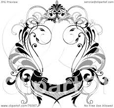 Decorative Text Boxes RoyaltyFree RF Clipart Illustration of a Decorative Black And 27