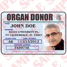 Organ Maxarmory Id Donor – Card