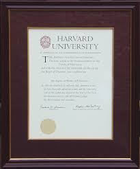 diploma with bury fabric mat mahogany and gold frame 16 x 22