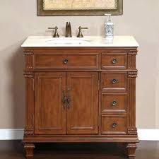 bathroom single sink vanity cabinet cherry finish marble cm l vanities