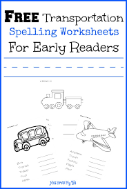 Free Transportation Spelling Worksheets For Early Readers -