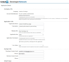 Examples Of A Cv Amazing OAuth48 And The LinkedIn API A WordPress CV R Sum Plugin Resume