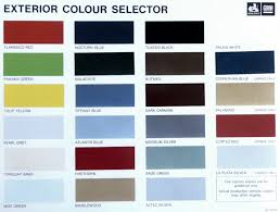 Vf Commodore Colours Chart Veritable Holden Colour Chart 2019