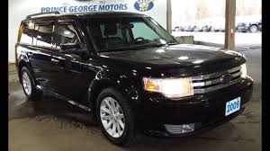 2009 Black Ford Flex SEL AWD Pre Owned Review   Prince George ...