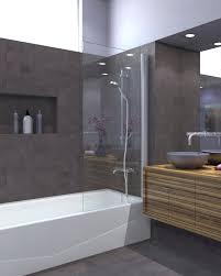 Glass Shower Panels | Semi-Frameless Shower Door Ark Showers