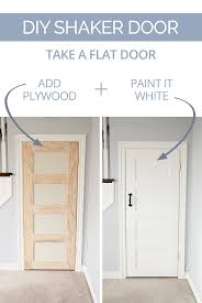 plain white interior doors. DIY Shaker Door - Take A Plain Slab And Turn It Into Charming-yet-modern With Some Plywood, Glue, Nails, Paint. White Interior Doors S