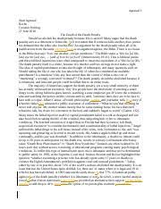 death penalty essay rough draft andracia mcmillian enc dr 3 pages persuasive essay death penalty