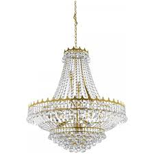 versailles classic crystal chandelier in gold finish 9112 82go