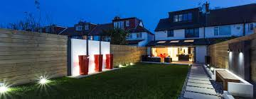 house exterior lighting ideas. night time in the garden by gk architects ltd house exterior lighting ideas