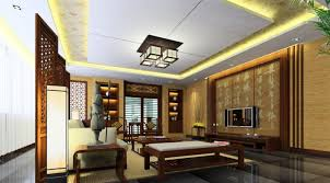 Interior:Elegant Chinese Living Room With Wooden Pillars Artistic Chinese  Living Room Design With Sculpture