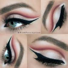 are your eyes blue green apply smokey makeup with gold eyeshadow in the inner corners of your eyes also never apply too much eyeshadow in blue
