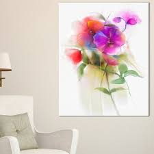 bunch of colorful orchid flowers large flower wall art on wrapped canvas on orchid flower wall art with designart bunch of colorful orchid flowers large flower wall art on