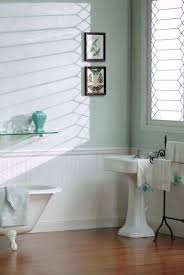 White Beadboard Wainscoting In Bathroom With Pedestal Sink And ...