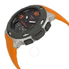 tissot t race analog digital orange rubber men s watch tissot t race analog digital orange rubber men s watch t0814201705702