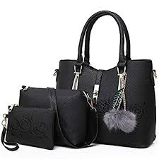WOVELOT 3pcs Leather <b>Bags Handbags Women Famous</b> Shoulder ...