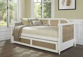 Details about White Wooden Twin Daybed with Trundle Bedroom Sofa Bed Couch Bedframe Furniture