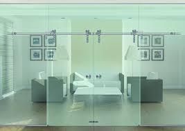 contemporary sliding glass barn doors