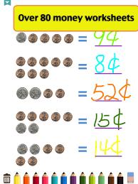 Kids Math-Money Worksheets (iPad) reviews at iPad Quality Index