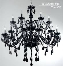 black and crystal chandeliers black glass crystal chandelier light modern black chandeliers restaurant chandelier glass candle black and crystal
