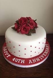 Ruby Anniversary Cake Anniversary Wedding Anniversary Cakes