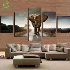 elephant painting canvas wall art picture home decoration