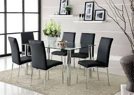 contemporary glass dining room table