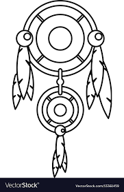 Dream Catcher Outline Dreamcatcher icon outline style Royalty Free Vector Image 28