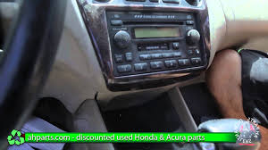 how to replace change a radio 1998 1999 2000 2001 2002 honda accord replace diy you