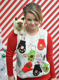 diy ugly sweaters kitten mittens ugly sweater diy no sew and easy sewing