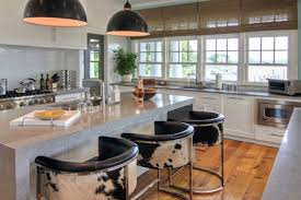 kitchen bar stools with arms. beach style kitchen idea in new york with an undermount sink, shaker cabinets, white bar stools arms o