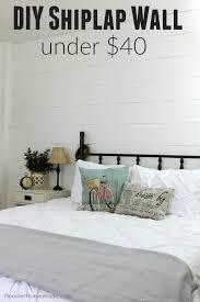 yes you can add a shiplap wall to your room in a weekend and for