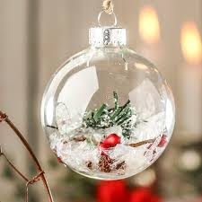 Clear Glass Ball Ornaments