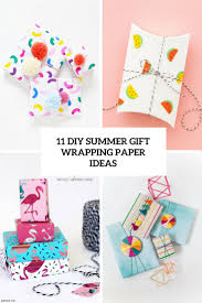 diy summer gift wrapping paper ideas cover