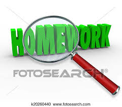 homework word homework word magnifying glass project lesson assignment