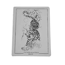 1шт татуировки практика поддельные кожи тигра Lmage лист для начинающих двойной