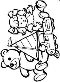 Toys Coloring Page Free Download