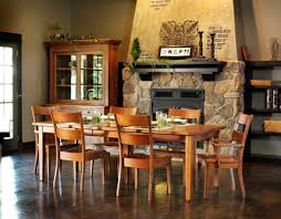 amish furniture for 7 pieces dining room set with rectangular dining table and wooden dining chairs