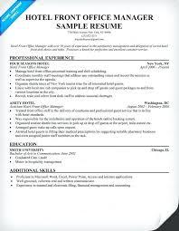 Hotel Front Desk Resume Samples Help Desk Resume Sample Manager Front Office Cover Letter