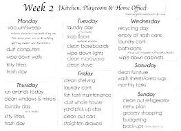 House Cleaning Schedule Home Cleaning Schedule Template