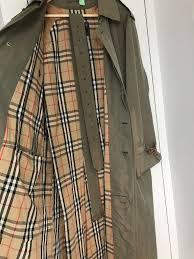 genuine vintage burberry classic mens mac trench coat raincoat size 50rl