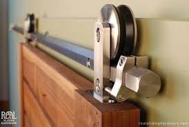 image of hardware track set sliding barn