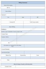 Billing Statement Form Bill Statement Template Sample Forms