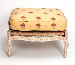 French Ottoman 1920s french painted rush seat armchair and ottoman for sale at 7288 by xevi.us