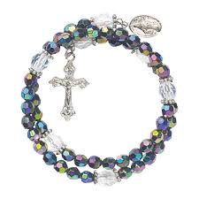 image for rosary purple wrap style rosary bracelet