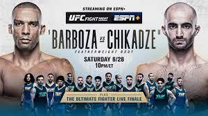 UFC Fight Night: Barboza vs. Chikadze ...