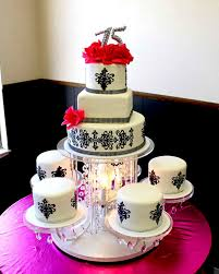 chandelier cake stand posted by hector s custom cakes edible images at 1 04 pm no comments links to this post